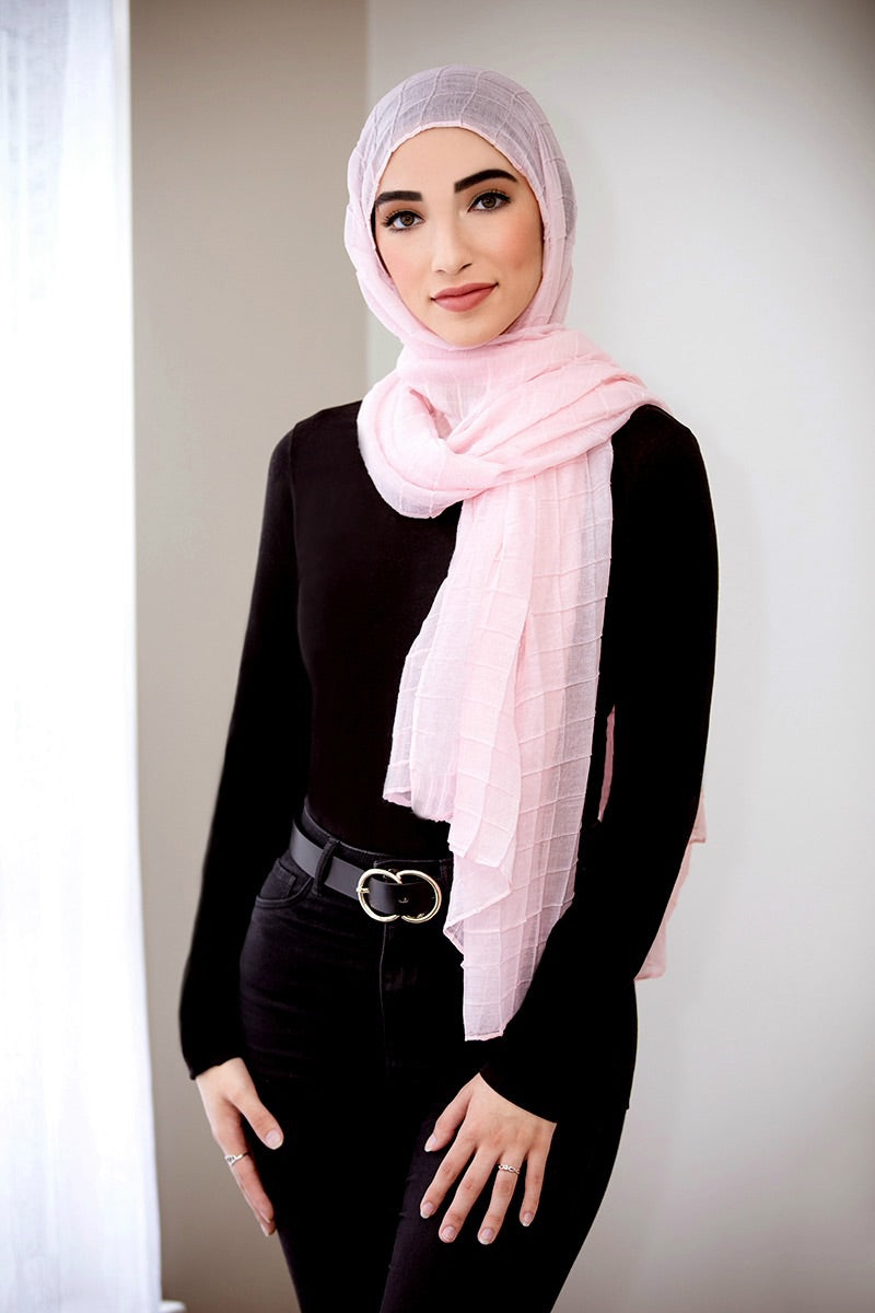 All Boxed Up Light Hijab -Pink
