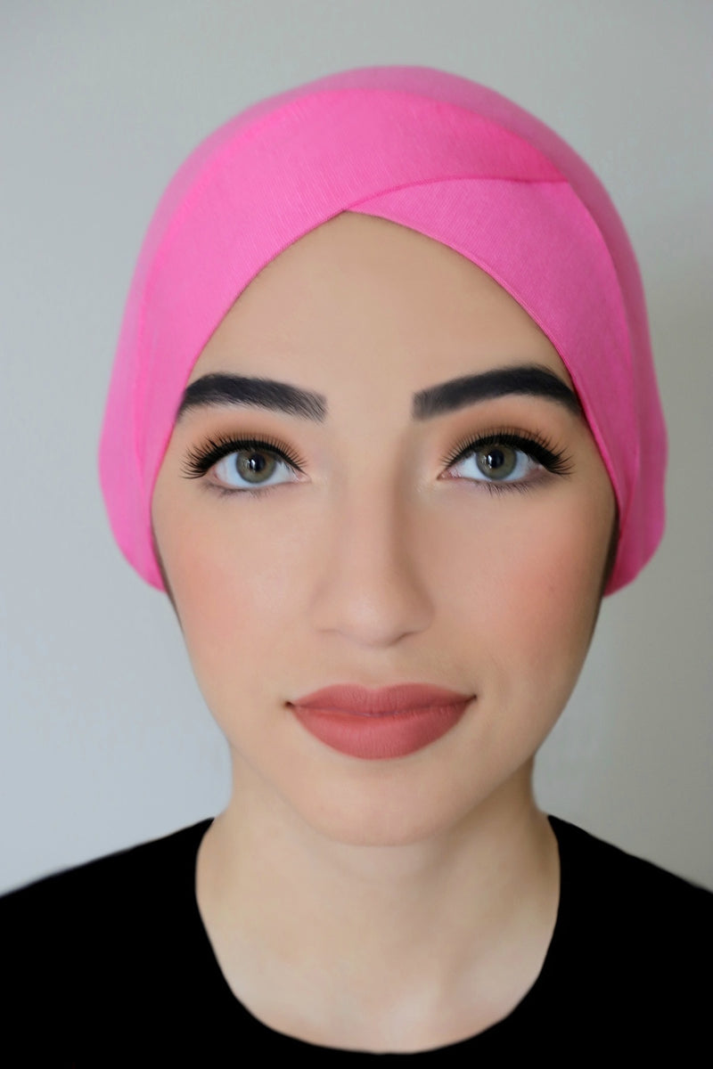 Criss Cross Headband-Pink