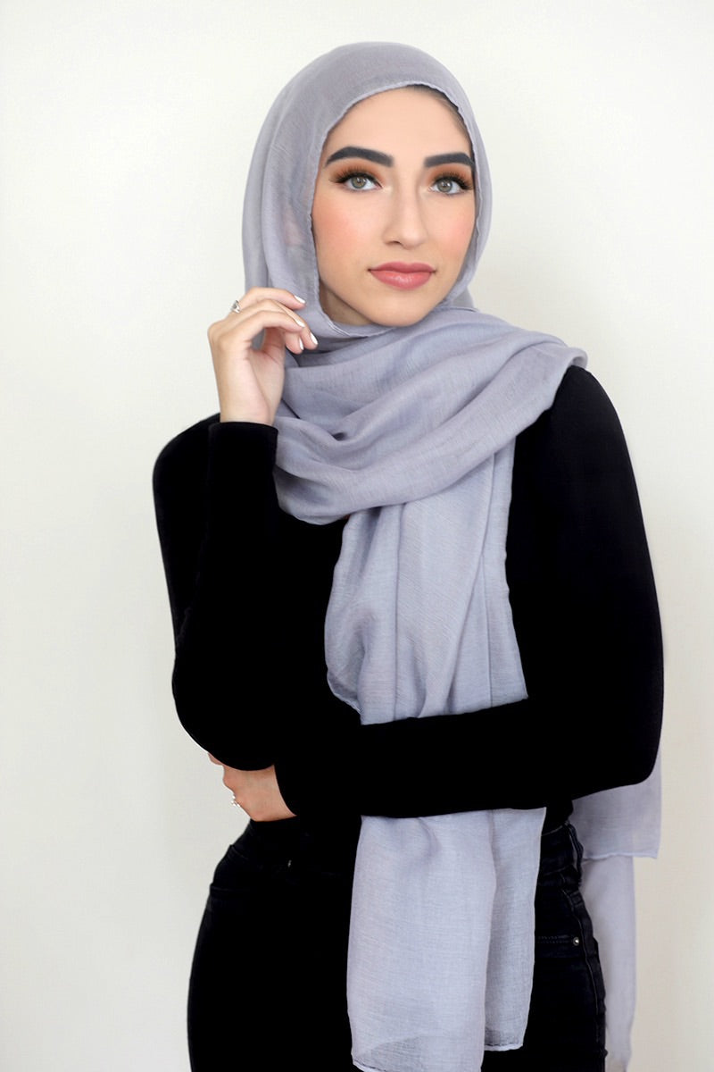 Luxury Light Maxi Hijab -Light Grey