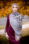 Wild Stripes Light Viscose Hijab-Gray