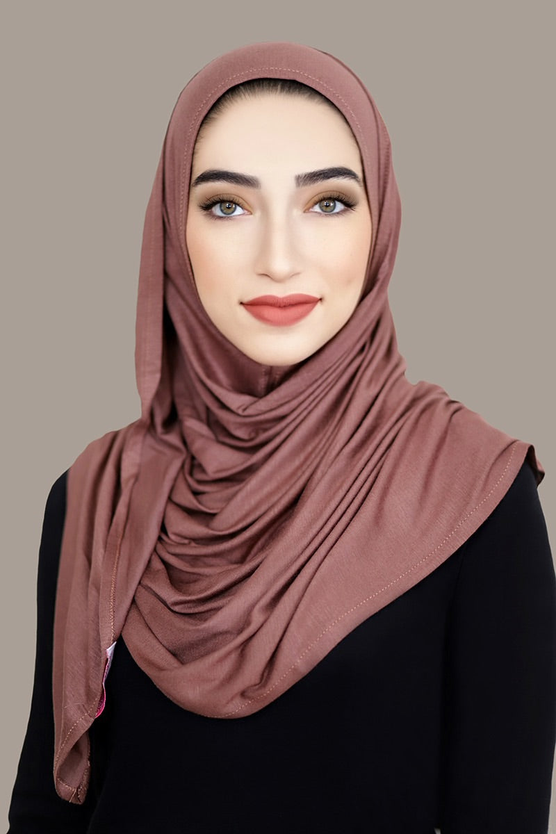 Light Brown Instant Jersey Hijab