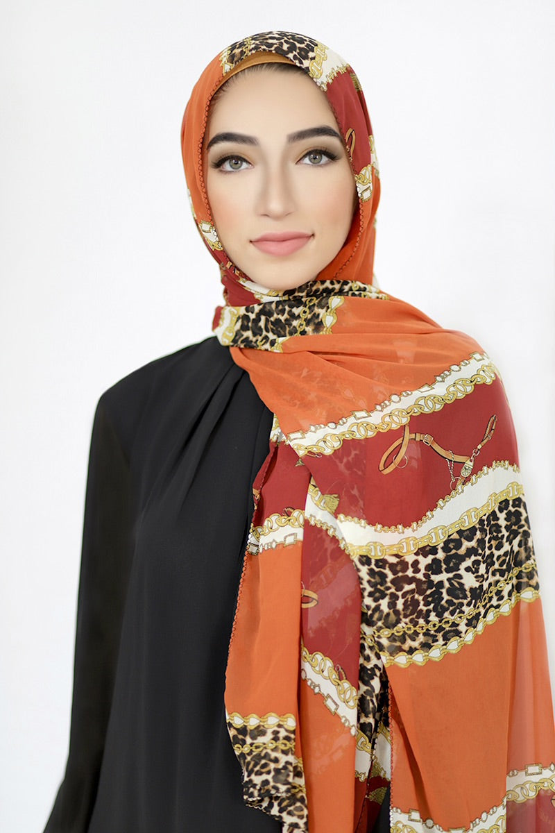 Gold Chains Signature Chiffon Hijab