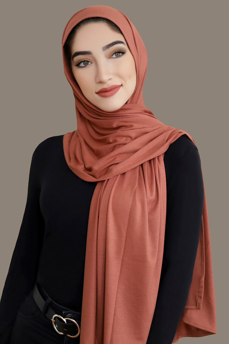 Small Jersey Hijab-Rust