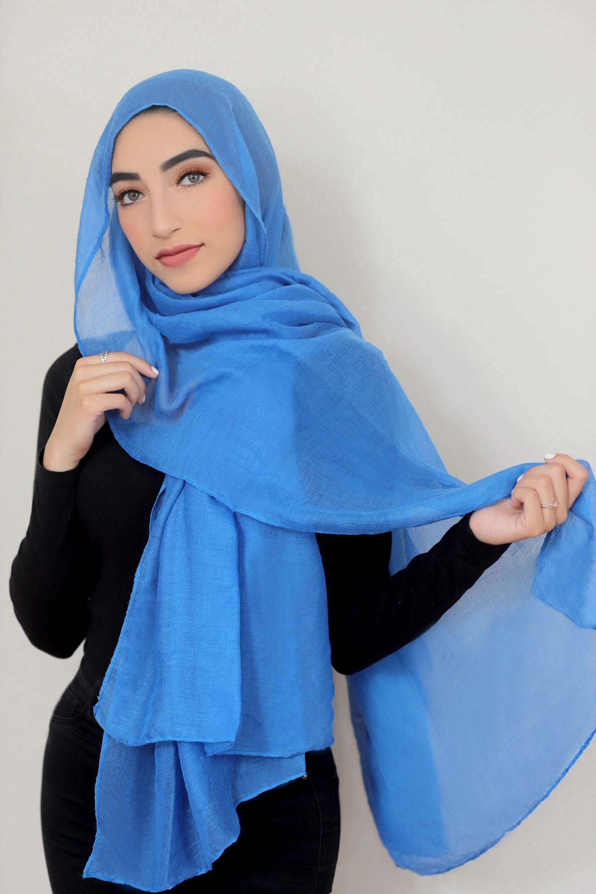 Luxury Light Maxi Hijab-Denim Blue