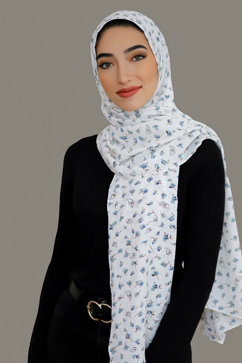 Timeless Beauty Crepe Hijab-White