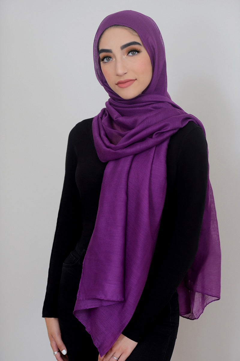 Luxury Light Maxi Hijab-Purple