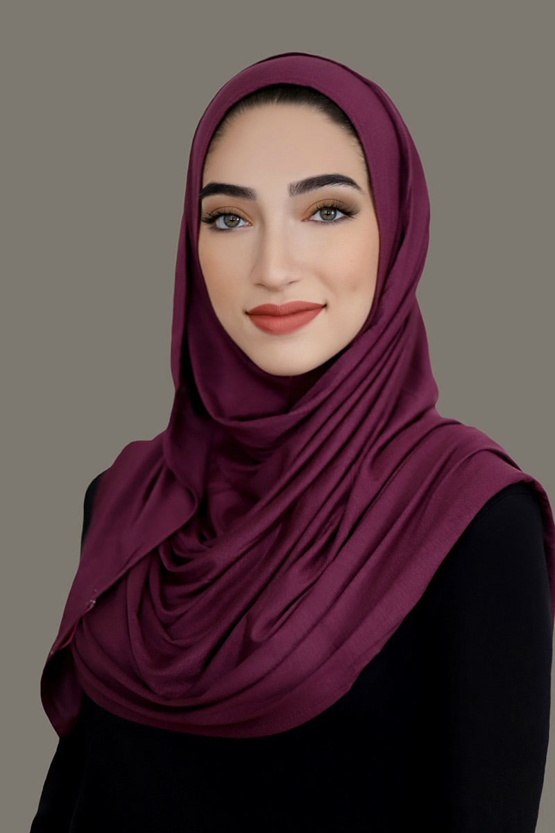 Grape Instant Jersey Hijab