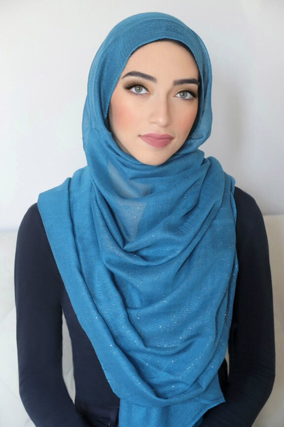 Gold Dust Light Hijab-Turquoise