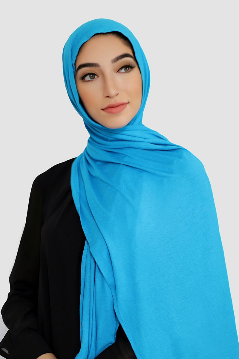 Luxury Jersey Hijab-Blue