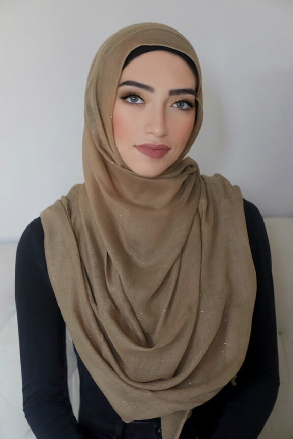 Gold Dust Light Hijab-Tan