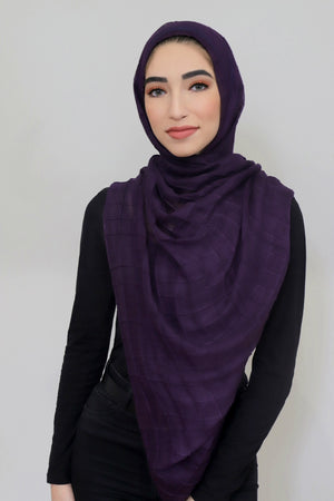 All Boxed Up Light Hijab-Eggplant