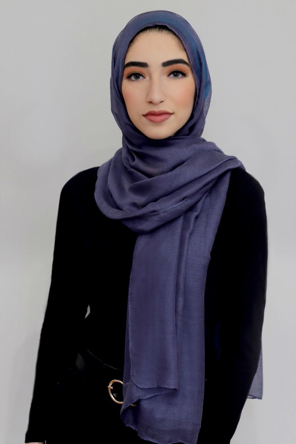 Luxury Light Maxi Hijab-Steel Blue