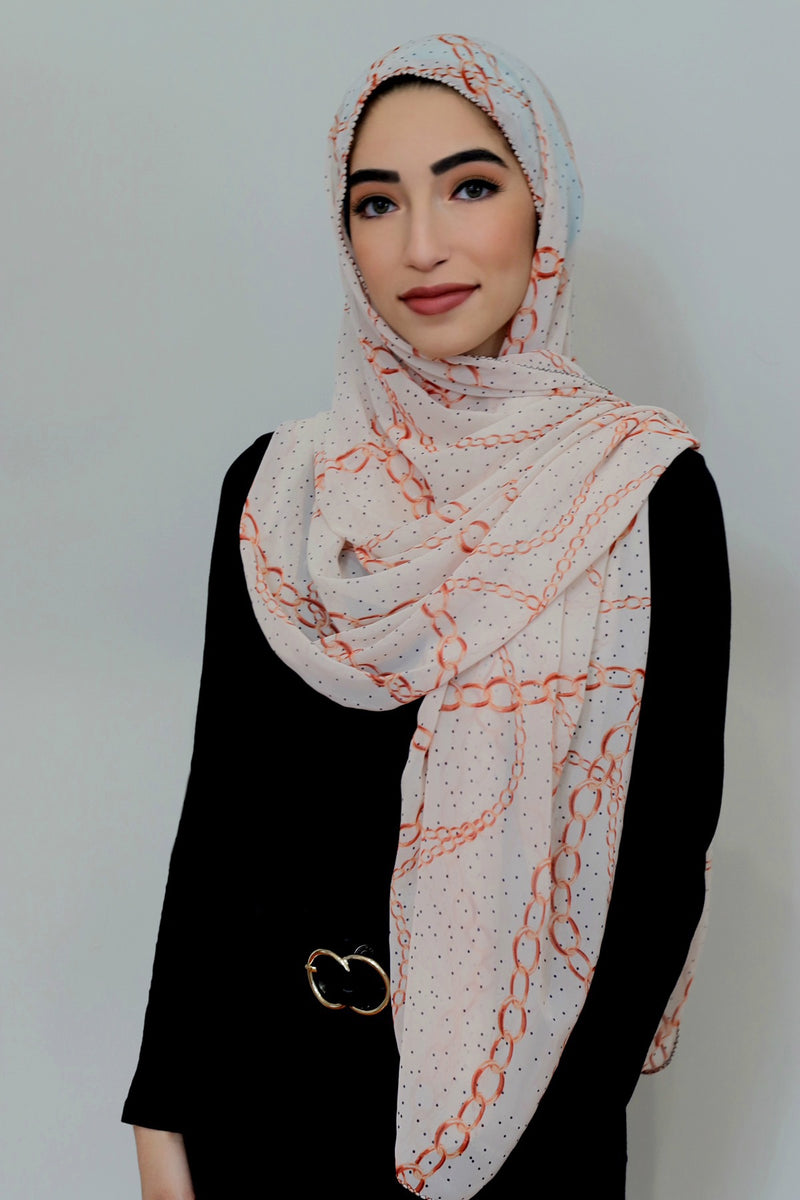 Chain Reaction Signature Chiffon Hijab