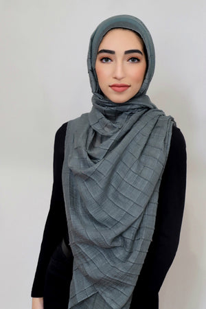 All Boxed Up Light Hijab-Sage
