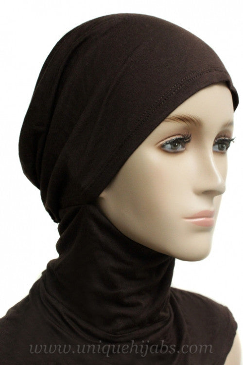 Tie Back Ninja Inner Underscarf-Brown
