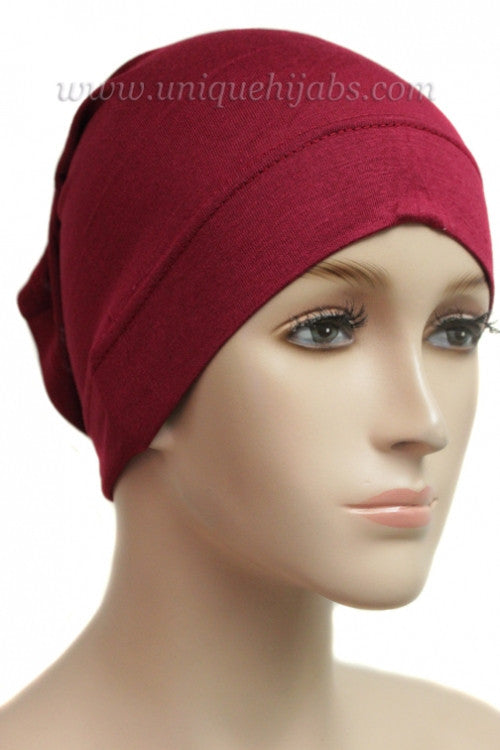 Tube Underscarf Stretch Jersey-Maroon