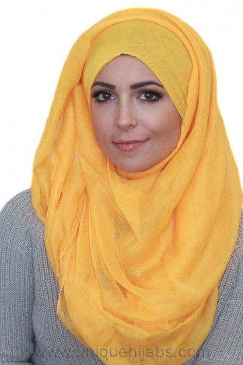 Light Maxi Hijab Luxury-Bright Yellow