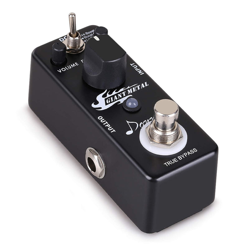 Donner Giant Metal Guitar Pedal Boost Distortion Effect 3 Modes