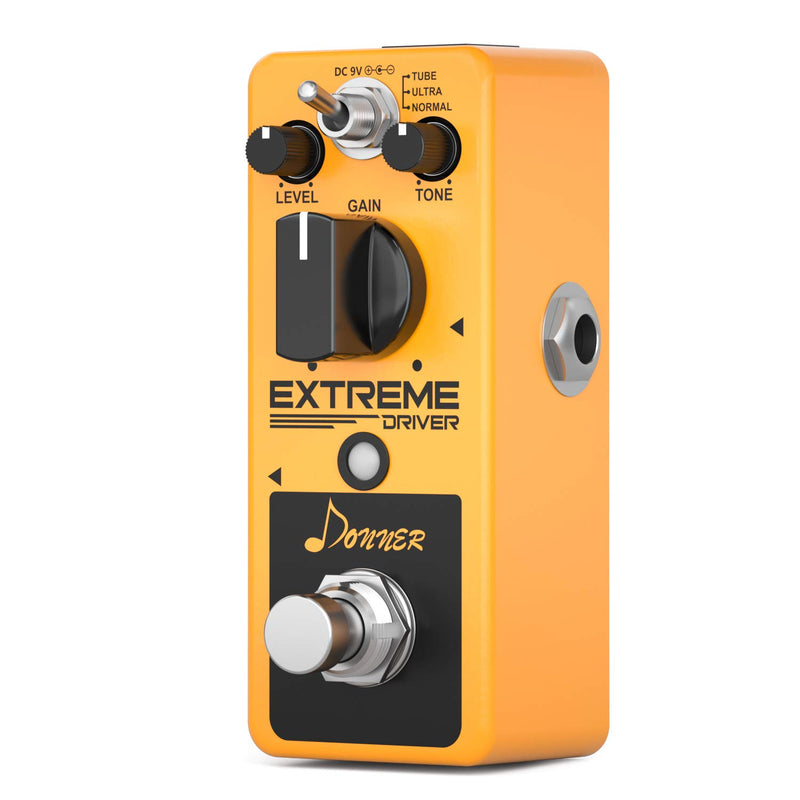 Donner Extreme Driver ANALOG Distortion Guitar Effect Pedal
