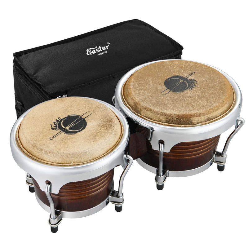 Eastar Bongo Drums 7'' and 8'' for Professional Special Antique Finish, EBO-21