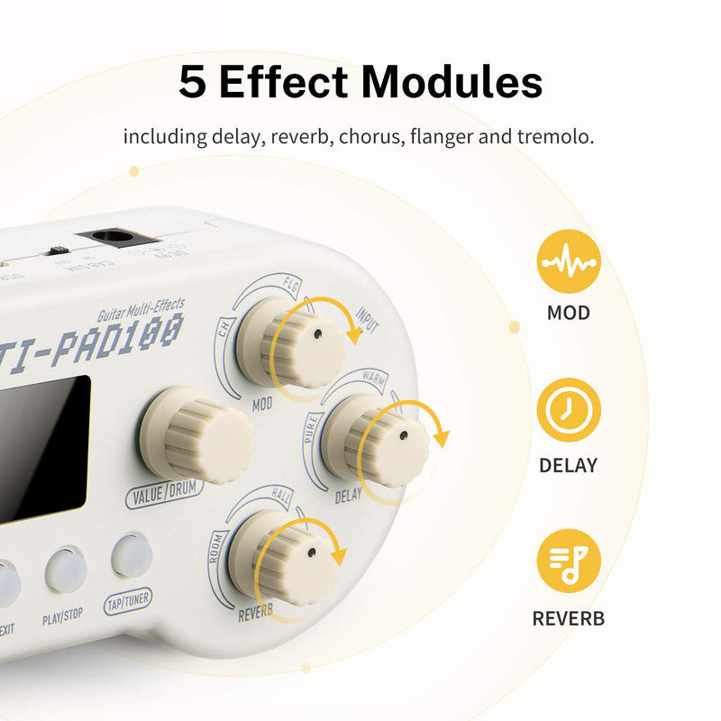 Donner MULTI-PAD100 Portable Multi-effects Processor with Unique Gamepad-like Shape