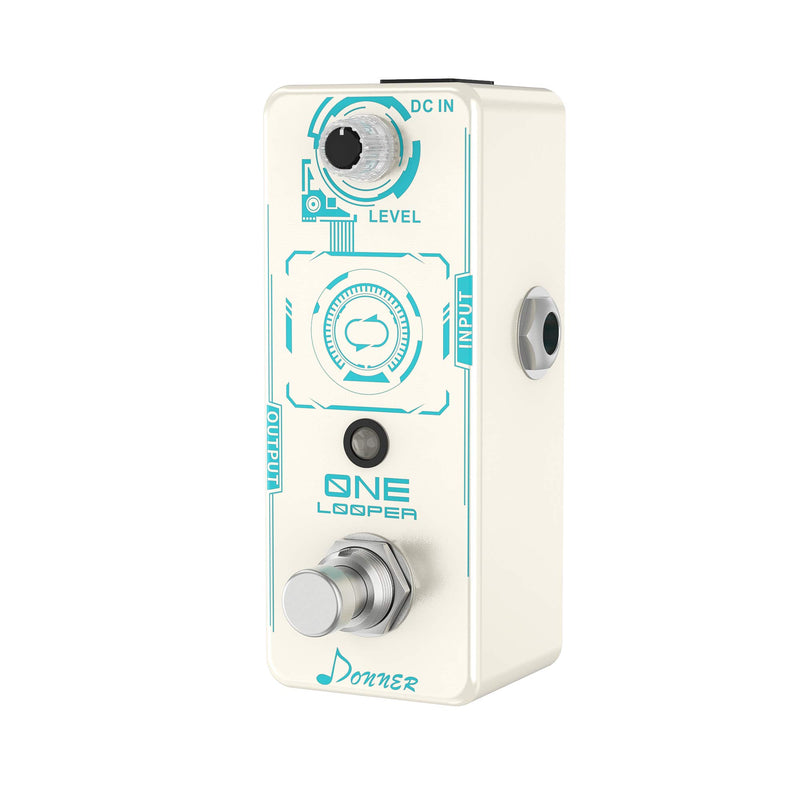 Donner ONE Looper Guitar Effect Pedal, 10 Minutes Looping, Mini Loop Pedal Unlimited Overdub Undo/Redo Function Loop Pedal for Electric Guitar Bass
