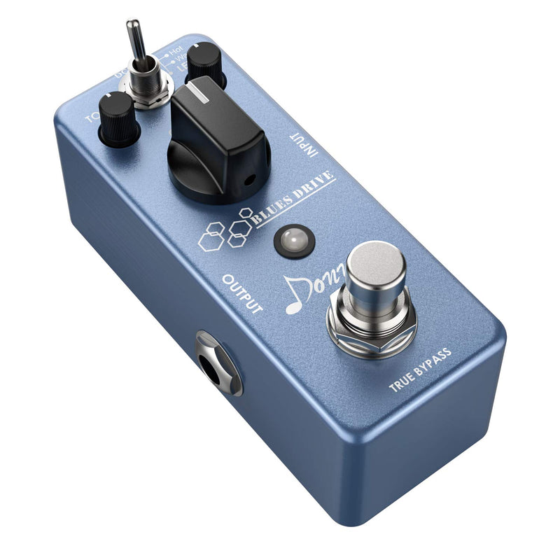 Donner Blues Overdrive Guitar Effect Pedal Classical Electronic Vintage True Bypass Warm/Hot Modes