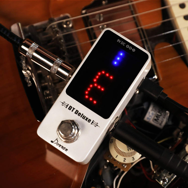 Donner DT Deluxe Guitar Tuner Pedal ¡À1 Cent True Bypass