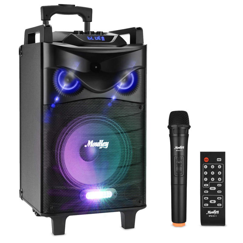 Moukey 520W Outdoor Portable BT Connectivity Karaoke Speaker System, MTs10-1