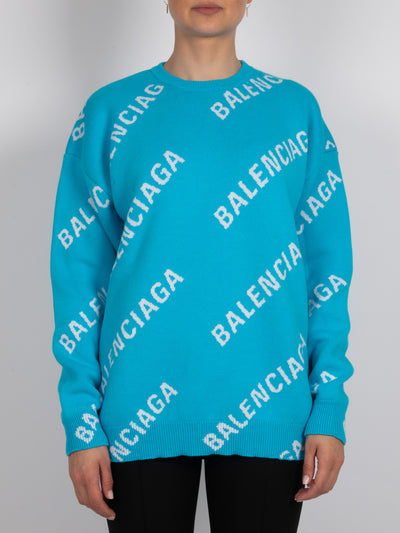 Allover-Print Sweater Blue (6162714034367)