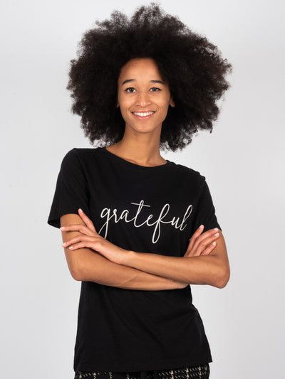 T-Shirt Grateful Black (6162760859839)