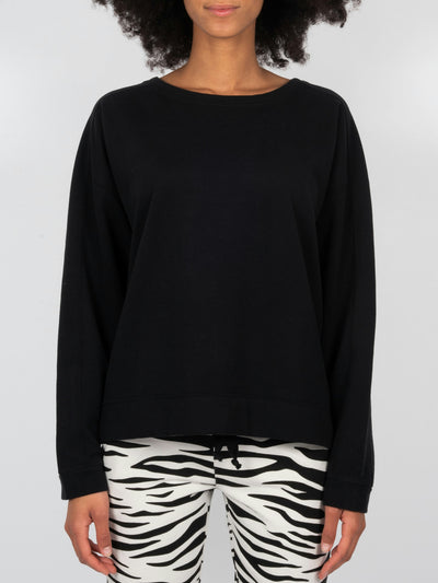 Fleece Sweater Black (6162754797759)
