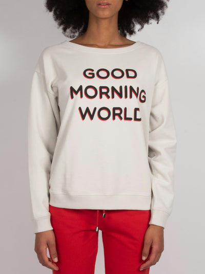 Good Morning World Sweater Chalk (6162753126591)