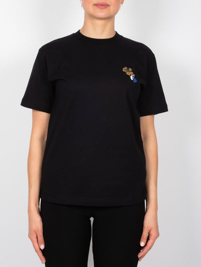 Leaves T-Shirt Schwarz (6162708988095)