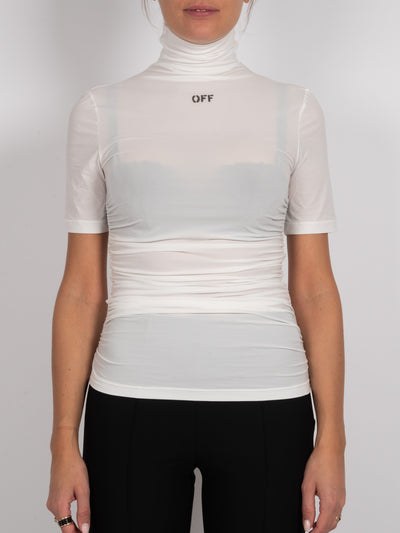 High Neck Top Weiß (6162712199359)