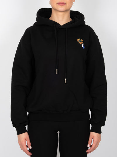 Leaves Arrow Hoodie Schwarz (6162710921407)