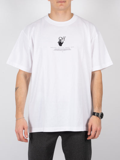 T-Shirt White Off Graff Over in Weiß (6214311903423)