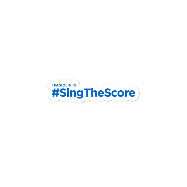 #SingTheScore Stickers for water bottles and folders