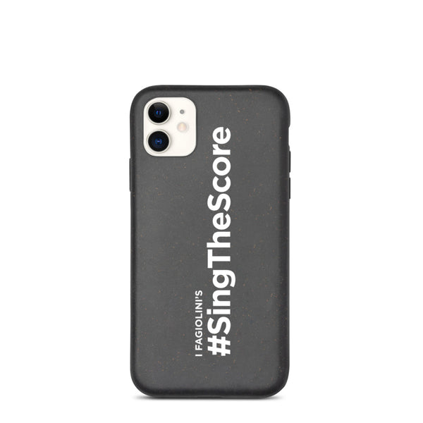 #SingTheScore Landscape White Biodegradable phone case
