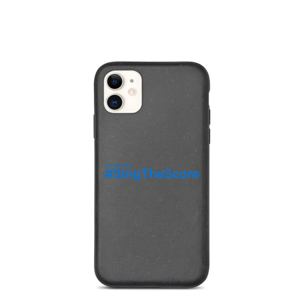#SingTheScore Potrait Blue Biodegradable phone case