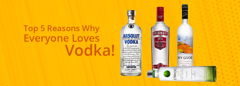 Top 5 Reasons Why Everyone Loves Vodka!