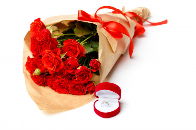 red flower for marriage proposal