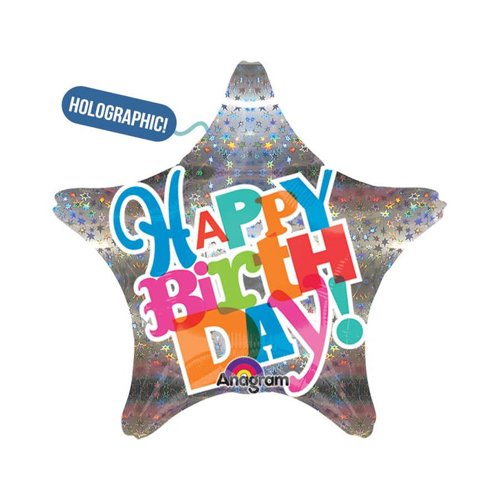 "18"" Birthday - Hologram Star"