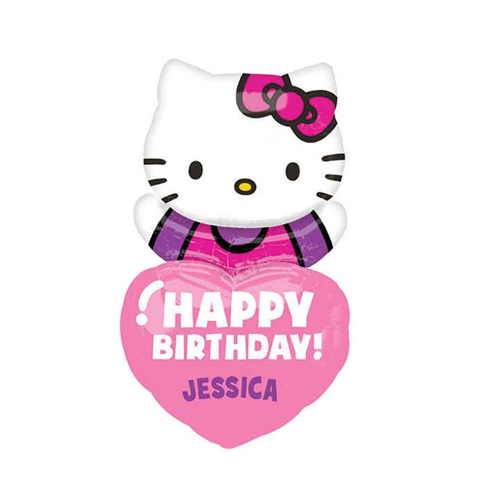 "19"" x 32"" Birthday - Personalized Hello Kitty"