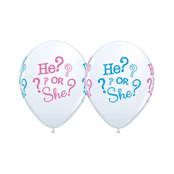 "Baby He or She? 11"" Qualatex Balloons"