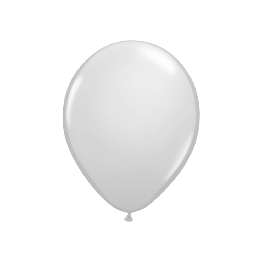 "Metallic Silver 11"" Qualatex Balloons"