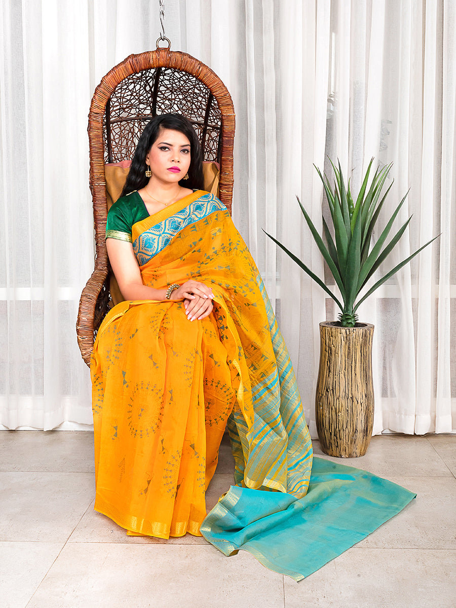Gadwal Saree with Warli Work
