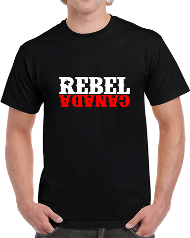 Rebel Logo - Black T Shirt