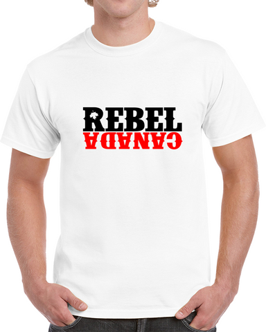 Rebel Logo - White T Shirt