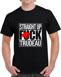 Straight Up Trudeau Black T Shirt